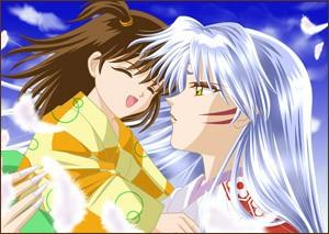 Sesshomaru and Rin দেওয়ালপত্র possibly with জীবন্ত titled Just Having Fun^^