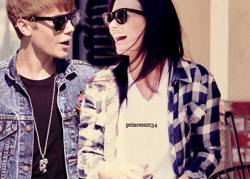 Justin and Demi