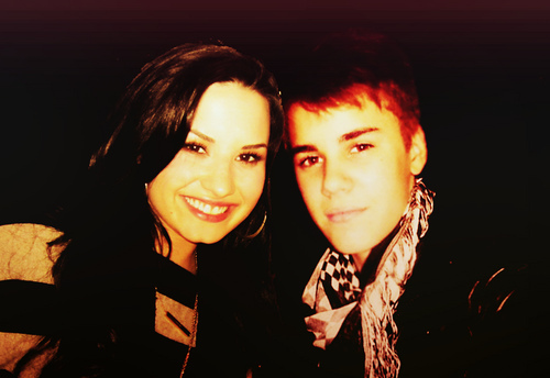 Justin and Demi