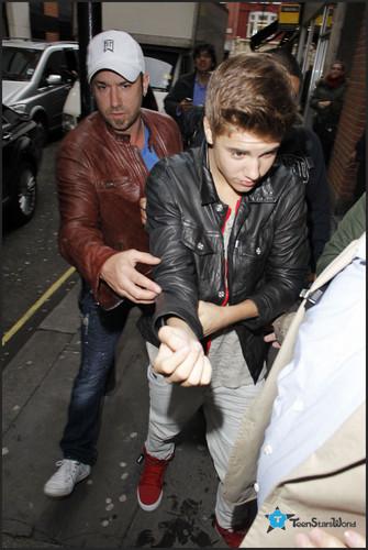 Justin at Kiss FM