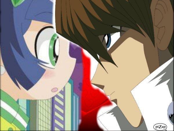 Kaoru looks at Kaiba