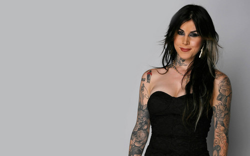 Kat Von D wallpaper possibly containing a bustier and a cocktail dress called Kat Von D