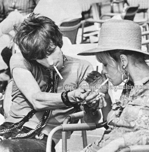 Keith Richards with Anita Pallenberg