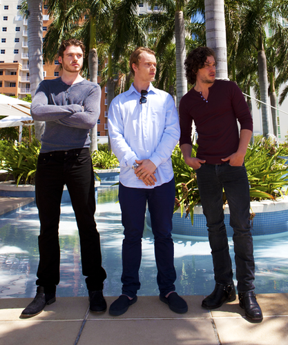 Kit Harington, Alfie Allen & Richard Madden in Miami