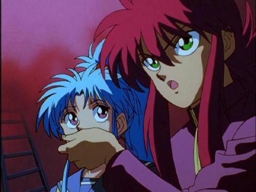 Kurama and Botan