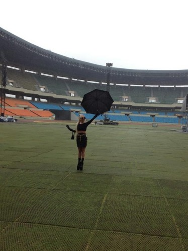 Lady Gaga at the Seoul Olympic Stadium