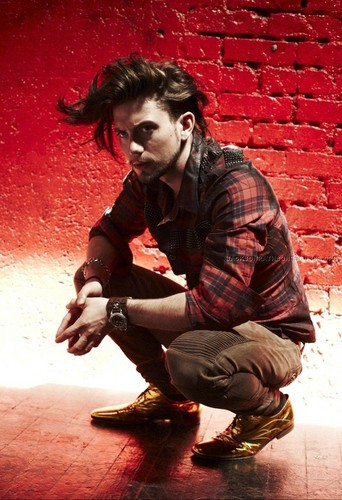 Jackson Rathbone wallpaper probably containing a street and a hip boot called Leather & Smoke photoshoot