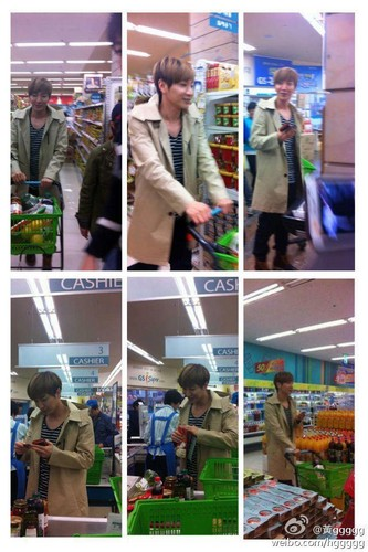 Leeteuk in a supermarket!