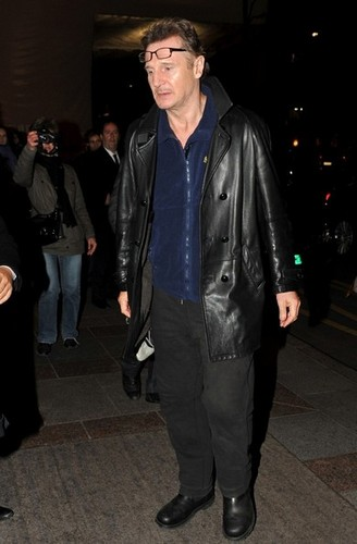 Liam Neeson Out in Paris