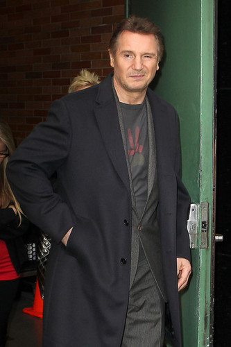 Liam Neeson images Liam Neeson Visits Talk Shows in NYC wallpaper and background photos