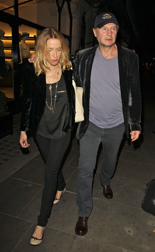 Liam Neeson and New Girlfriend Freya St. Johnston Out in Londres