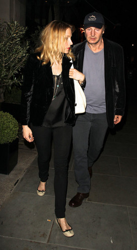 Liam Neeson and New Girlfriend Freya St. Johnston Out in London