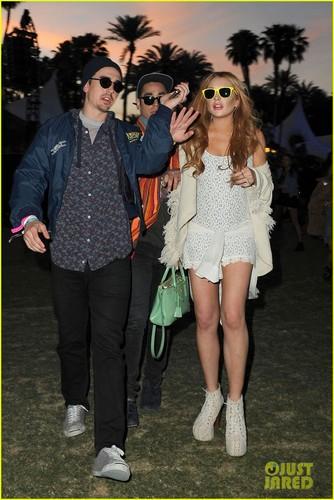 Lindsay Lohan: Coachella with Michael Lohan Jr!