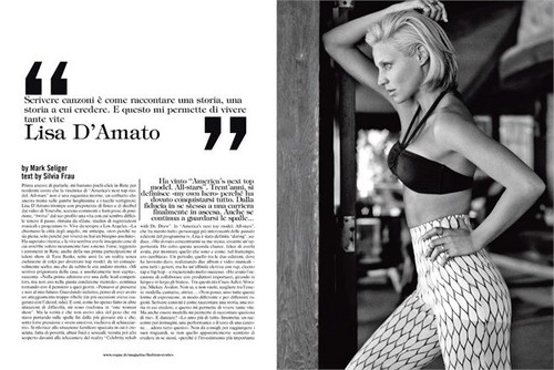 Antm winners 壁紙 probably with a bikini called Lisa D'amato for Vogue Italy