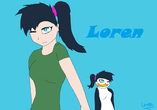 Loren as a human and pnguin!  - fans-of-pom Fan Art