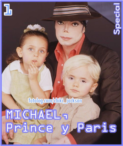 MJ with Prince and Paris
