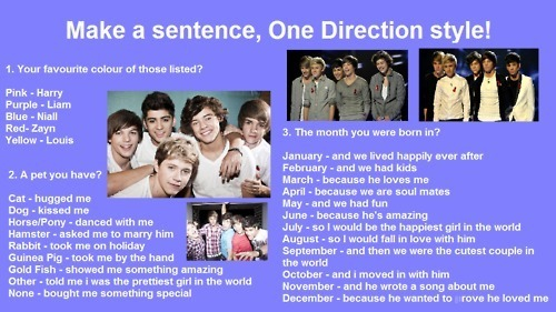 Make your own 1D sentence ! :) x