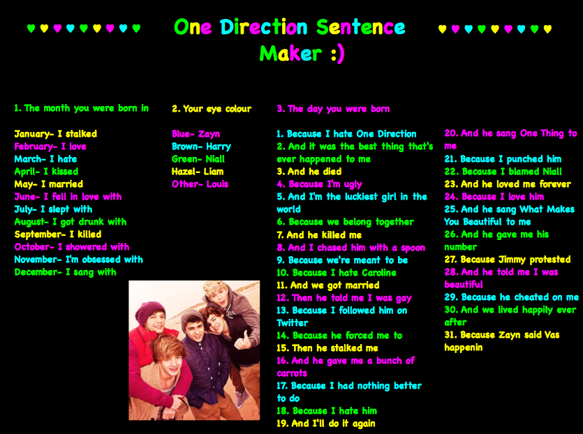one direction images make your own 1d sentence x hd