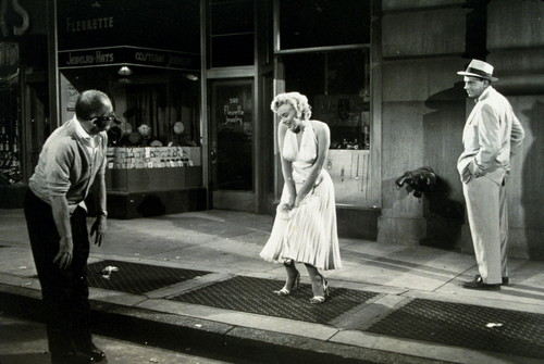 Marilyn Monroe, Billy Wilder and Tom Ewell (The-Seven-Year-It)