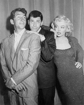 Marilyn Monroe, Jerry Lewis and Dean Martin.