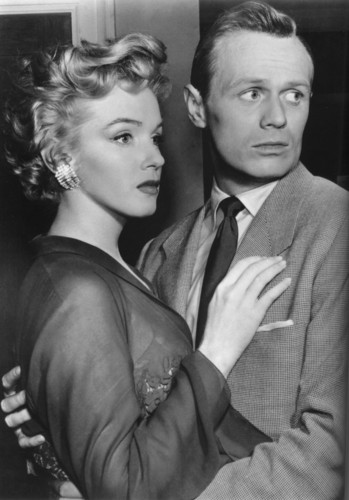 Marilyn Monroe and Richard Widmark (Don't Bother to Knock).