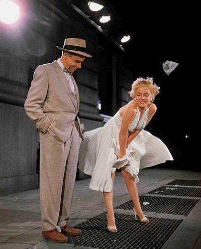 Marilyn Monroe and Tom Ewell (The-Seven-Year-It)