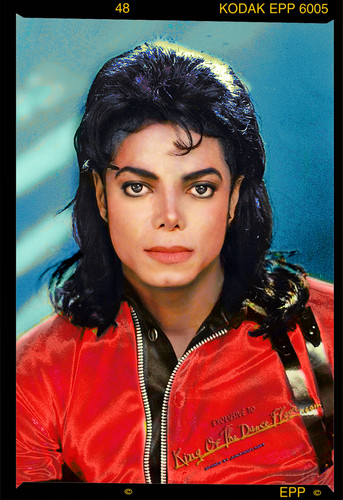 Michael Jackson holographic Label foto 1990