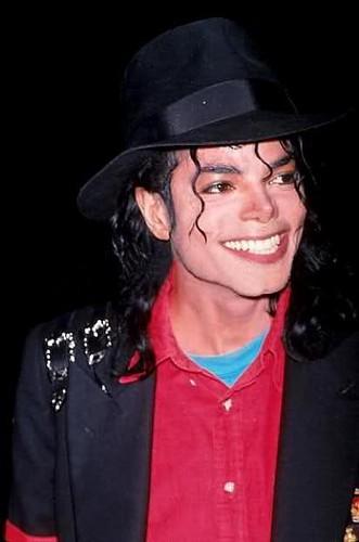 Michael Jackson smiles
