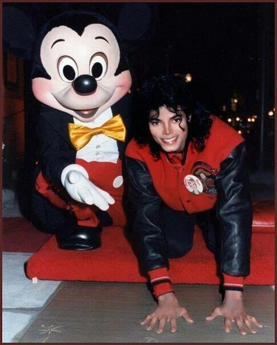 Michael with Mickey