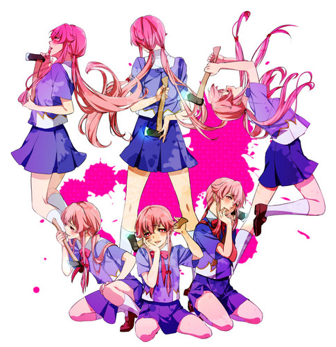mirai nikki wallpaper probably with anime entitled Mirai Nikki♥