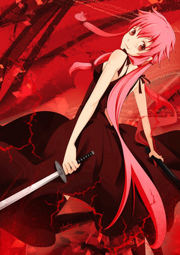 mirai nikki wallpaper probably with a claymore, a falchion, and a dirk called Mirai Nikki♥