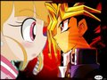 Momoko looks at Yugi - powerpuff-girls-z photo