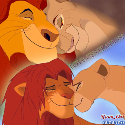 The Lion King kertas dinding entitled Mufasa Sarabi Simba Nala Cinta Generation