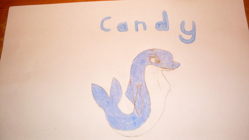 My drawing of Candy.