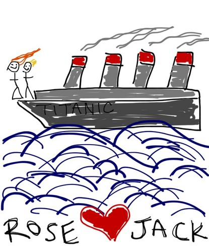 My nephew's Titanic drawing - titanic Fan Art