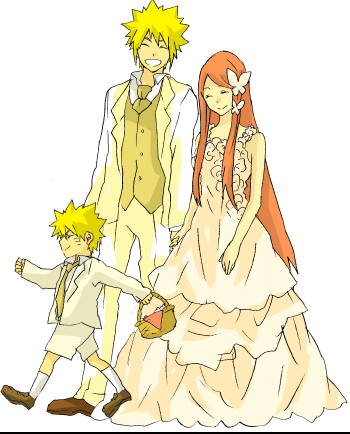 Minato Namikaze wallpaper possibly with anime titled Namikaze Family <33