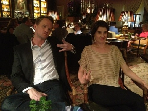 Neil and Cobie hanging out in Florence, Italy