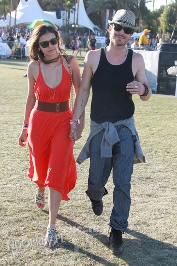 Nian at coachella more - ian-somerhalder-and-nina-dobrev photo