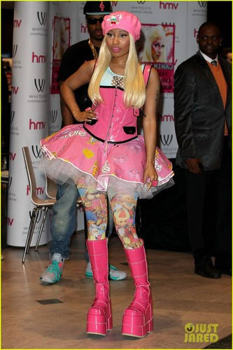 Nicki Minaj wallpaper probably with a fedora, a boater, and a hip boot entitled Nicki Minaj: 'Roman Reloaded' CD Signing in London!