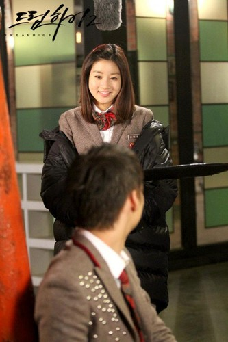 Dream High 2 wallpaper probably with a business suit, a sign, and a street titled Official Picz
