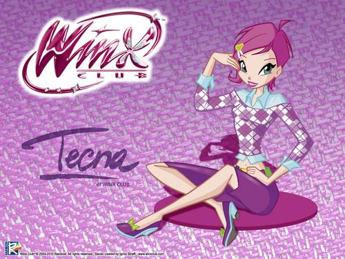 Official fond d'écran 2012 Tecna City girl
