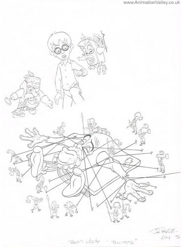 Pagemaster Production Drawing