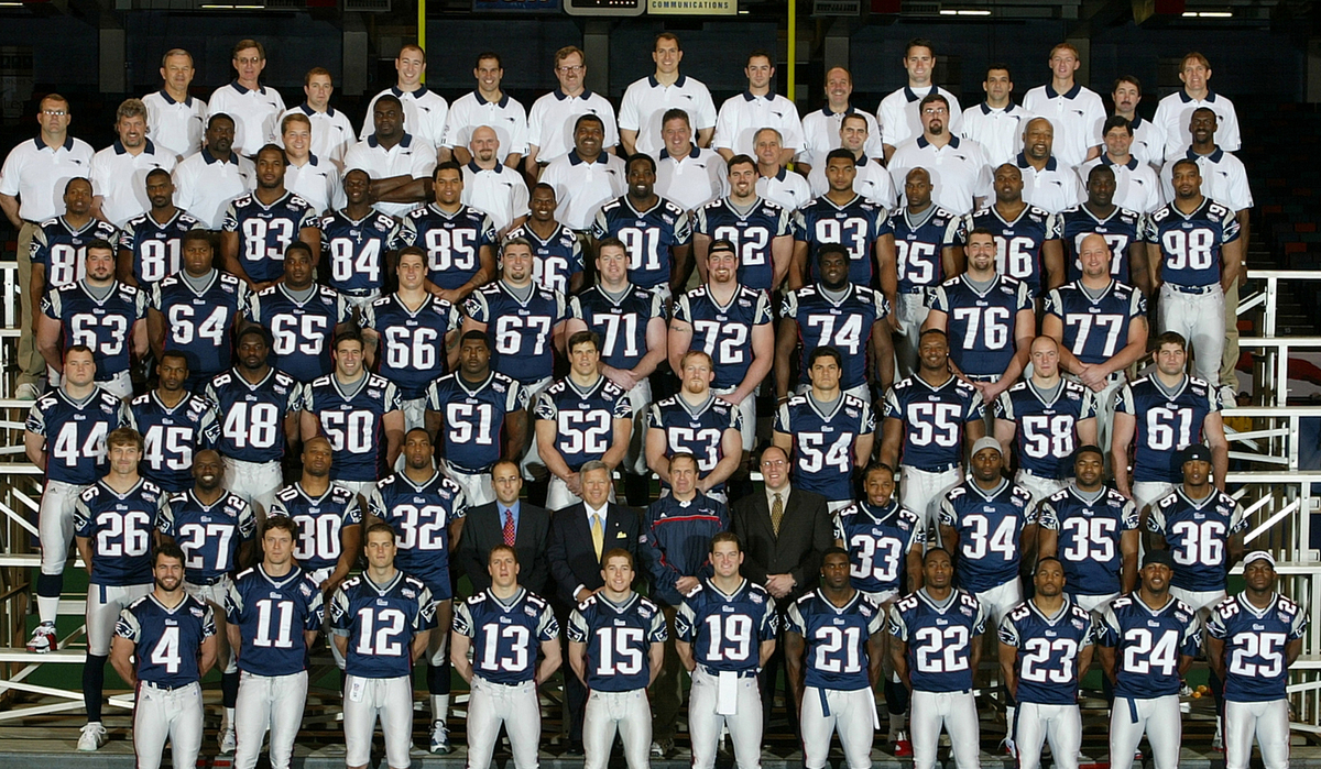 New england patriots roster by year