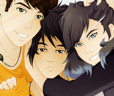 Percy Jackson & The Olympians sách hình nền containing anime entitled Percy Jackson characters