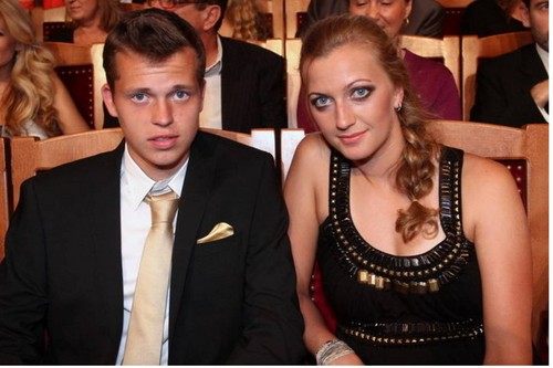Petra Kvitova and her frightened boyfriend Adam Pavlasek