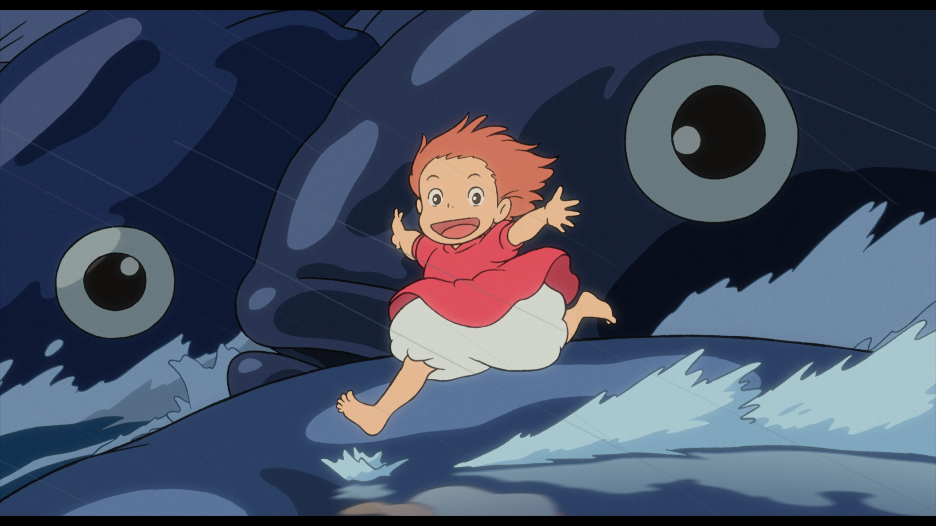 Ponyo On The Cliff By The Sea Images Ponyo Screencaps HD Wallpaper And Background Photos 30547660