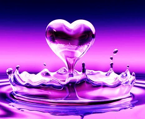 Tweetymom65 wallpaper titled Pretty purple cuore ♥