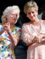 Princess Diana and her Mother