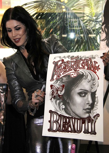 Kat Von D kertas dinding possibly with Anime titled Promotes 'New American Beauty' in Hollywood 2012