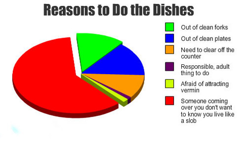 Reasons to do the dishes